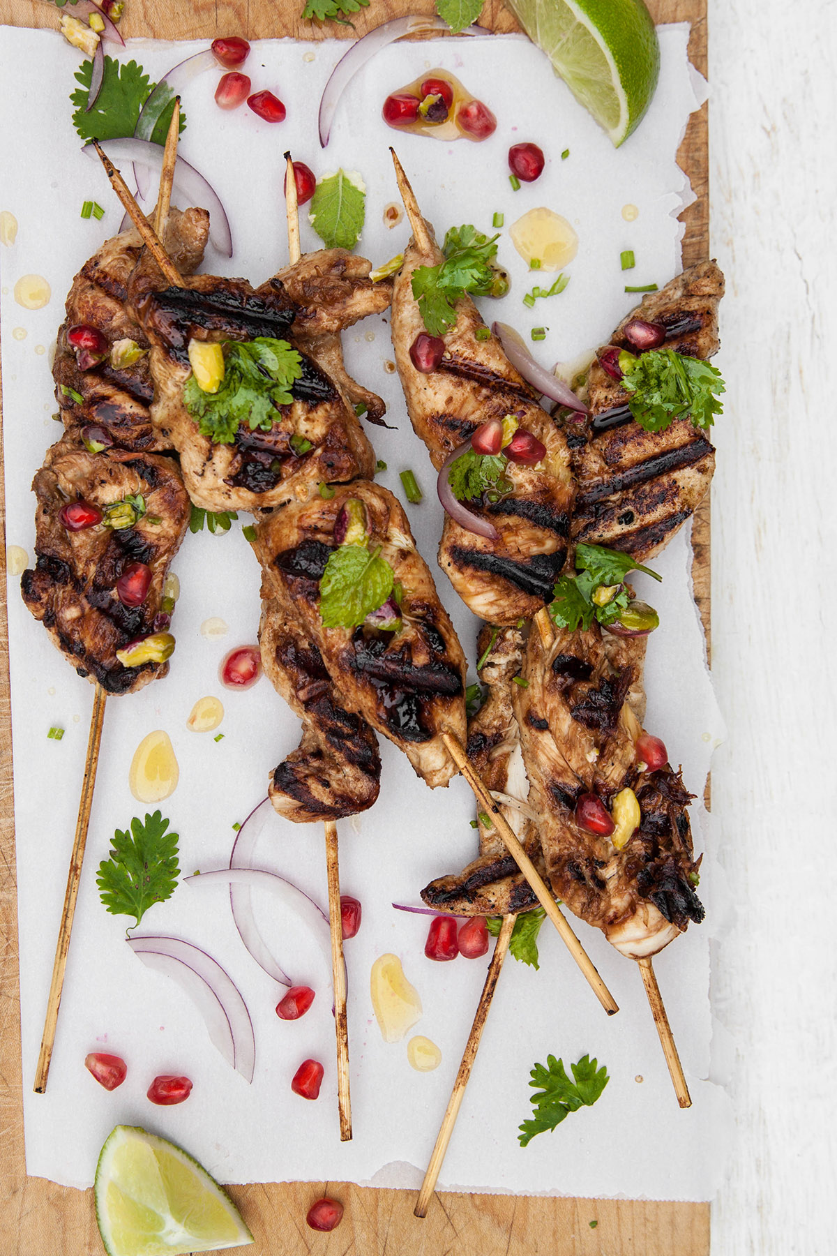 Raspberry Balsamic Glazed Chicken Skewers