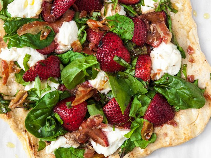 Marinated Strawberry Pizza