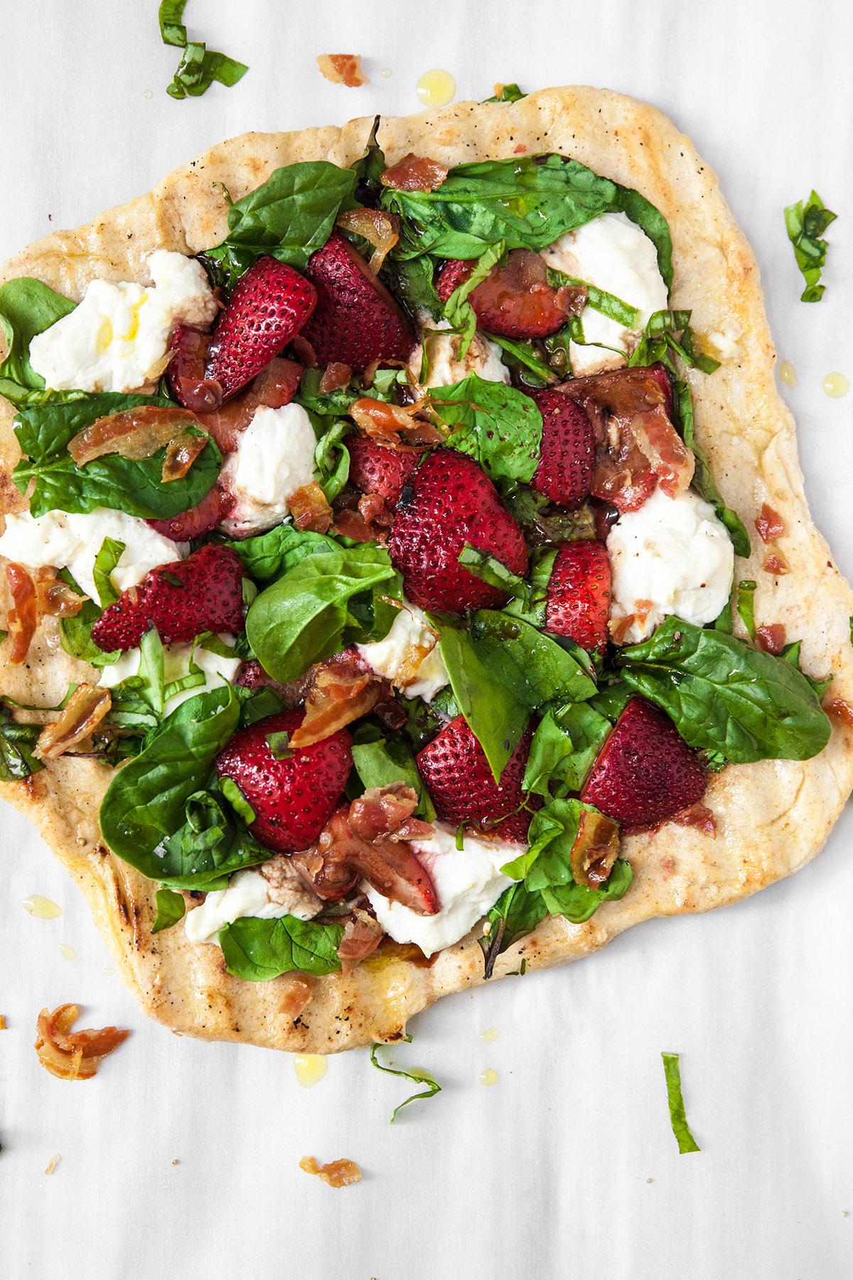 Marinated Strawberry Pizza
