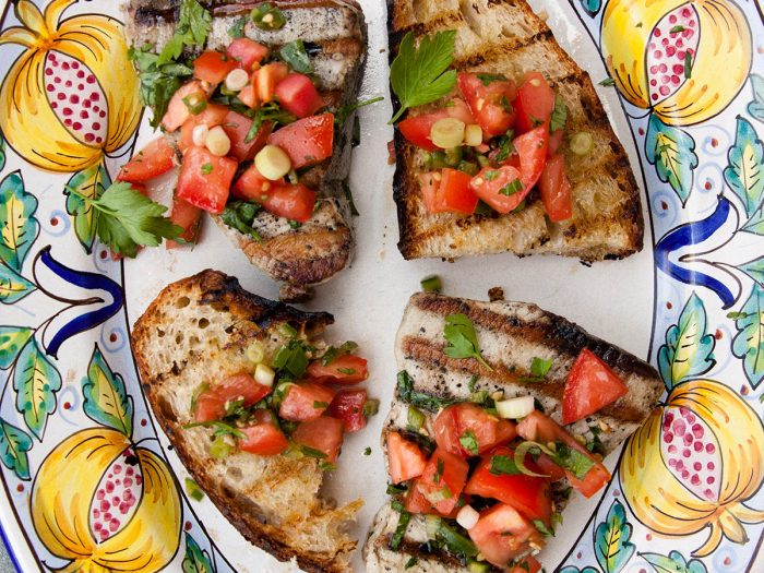 Grilled Tuna Steak with Fresh Tomato Salsa