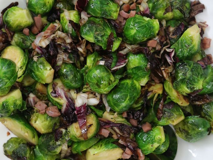 Brussels Sprouts with Pancetta and Radicchio