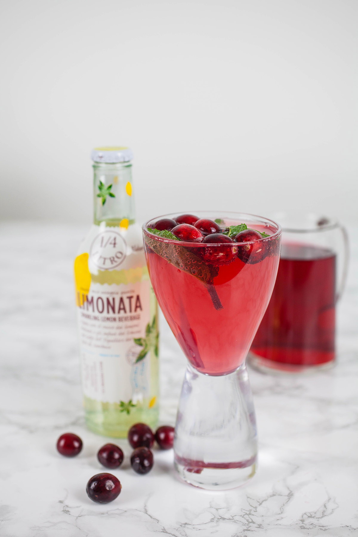 Cranberry Lemon Swizzle