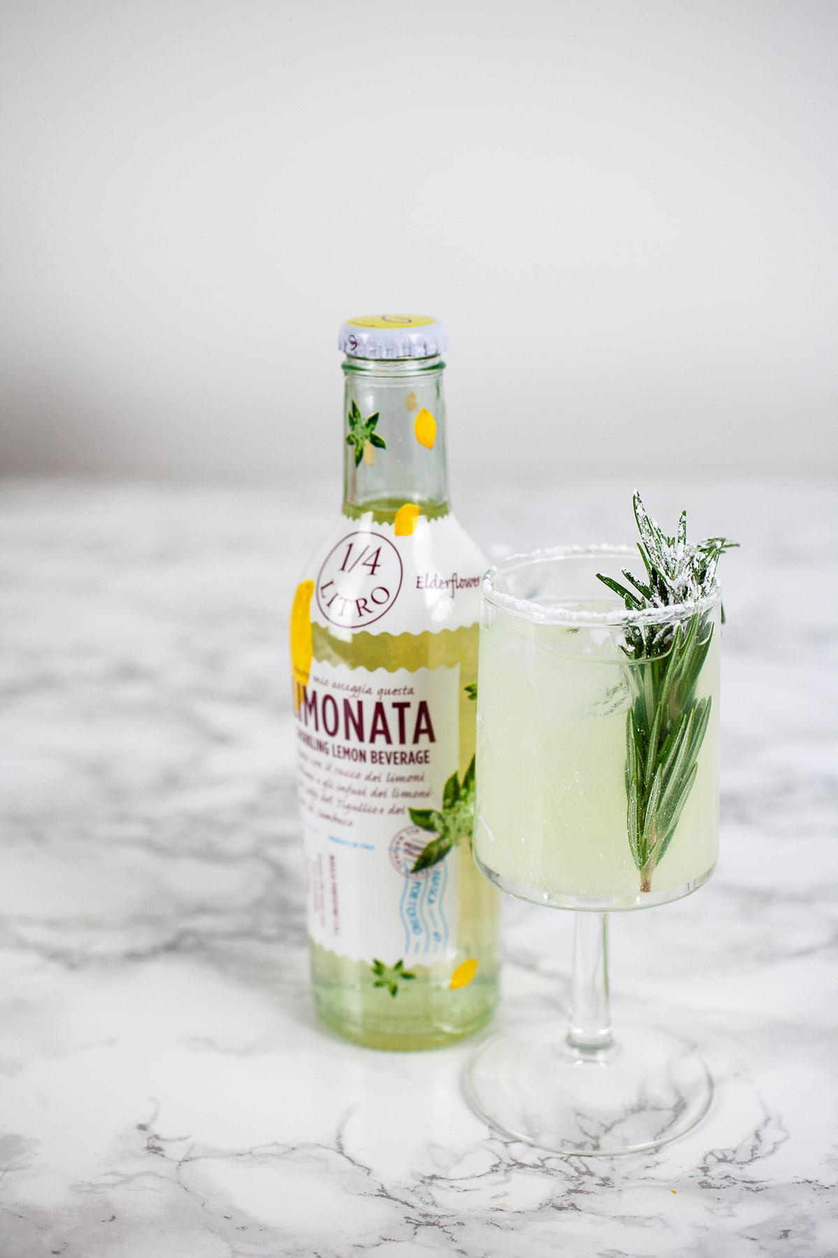 Lemon-Rosemary Shandy Cocktail