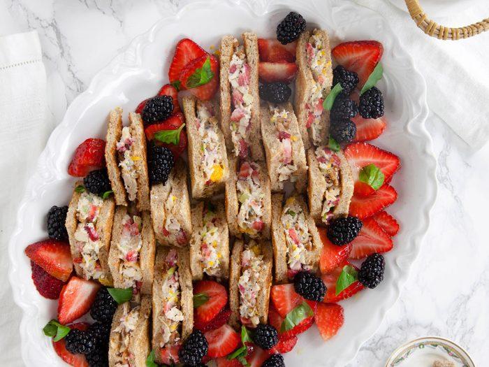 Strawberry Chicken Salad Mini Sandwiches