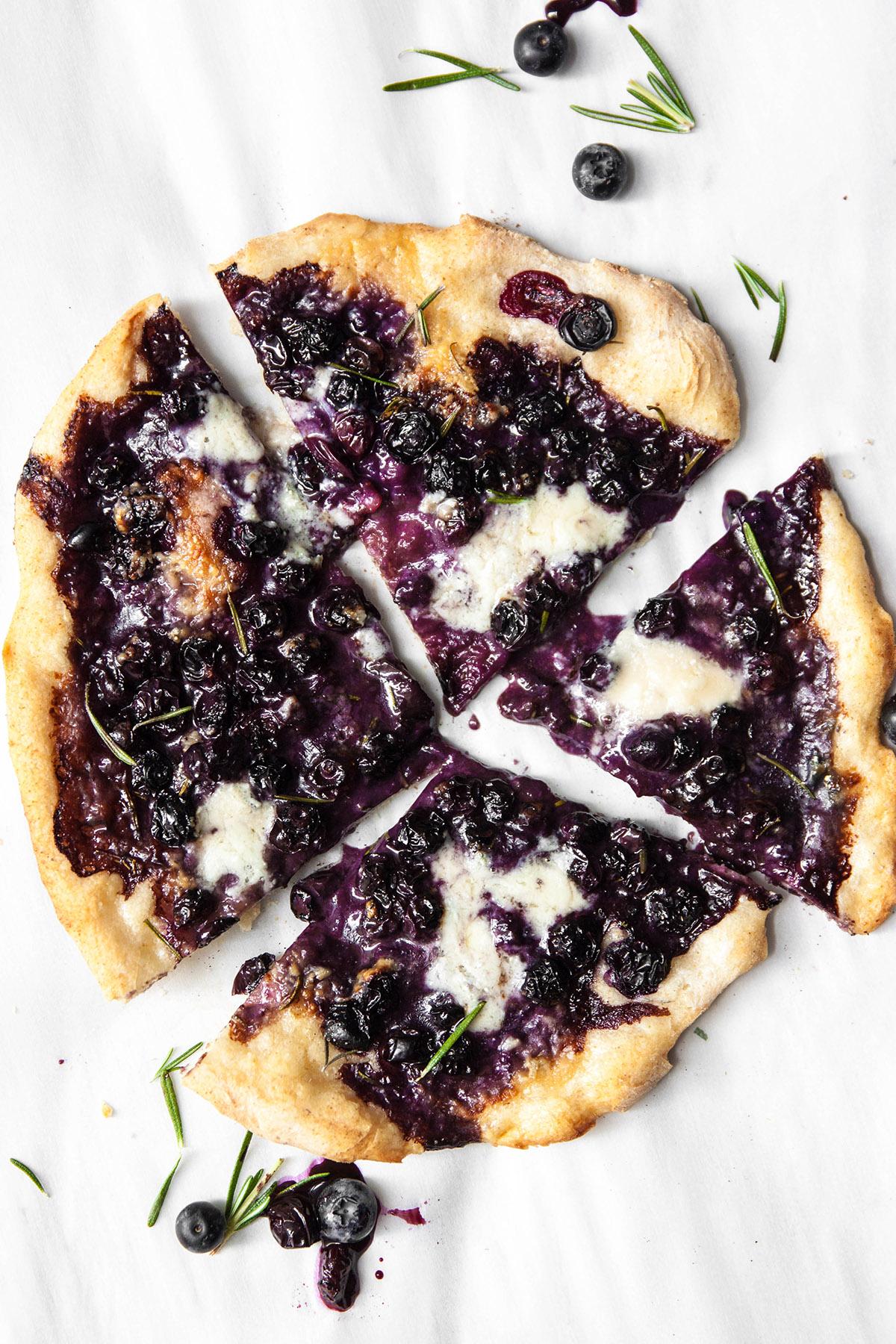 Blueberry, Gorgonzola and Rosemary Pizza
