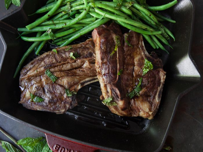 Colavita by Mike Colameco: Lamb Chops and String Beans