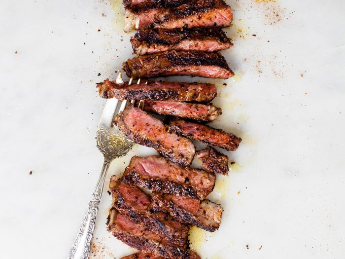 Grilled Steak with Spiced Coffee Rub