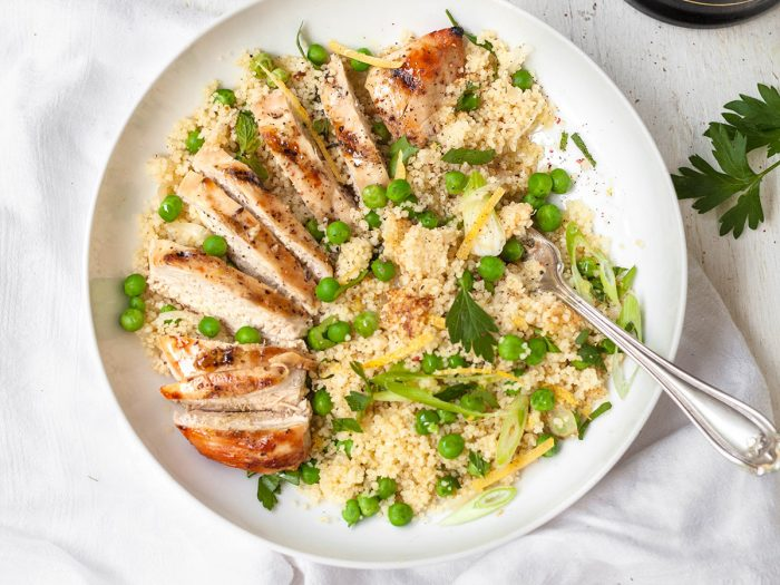 Lemon and Herb Couscous with Grilled Chicken