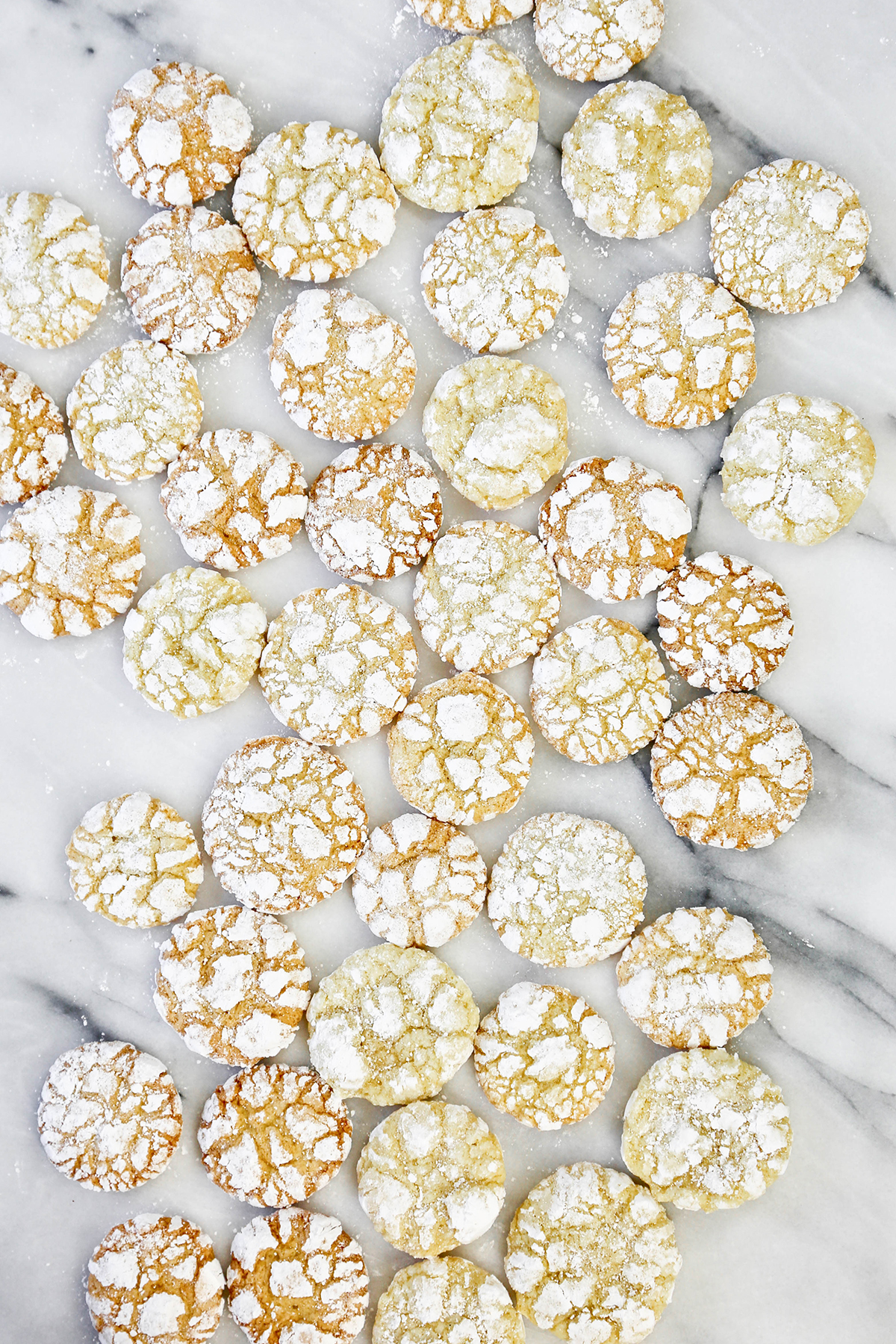 Lemon Olive Oil Crinkle Cookies