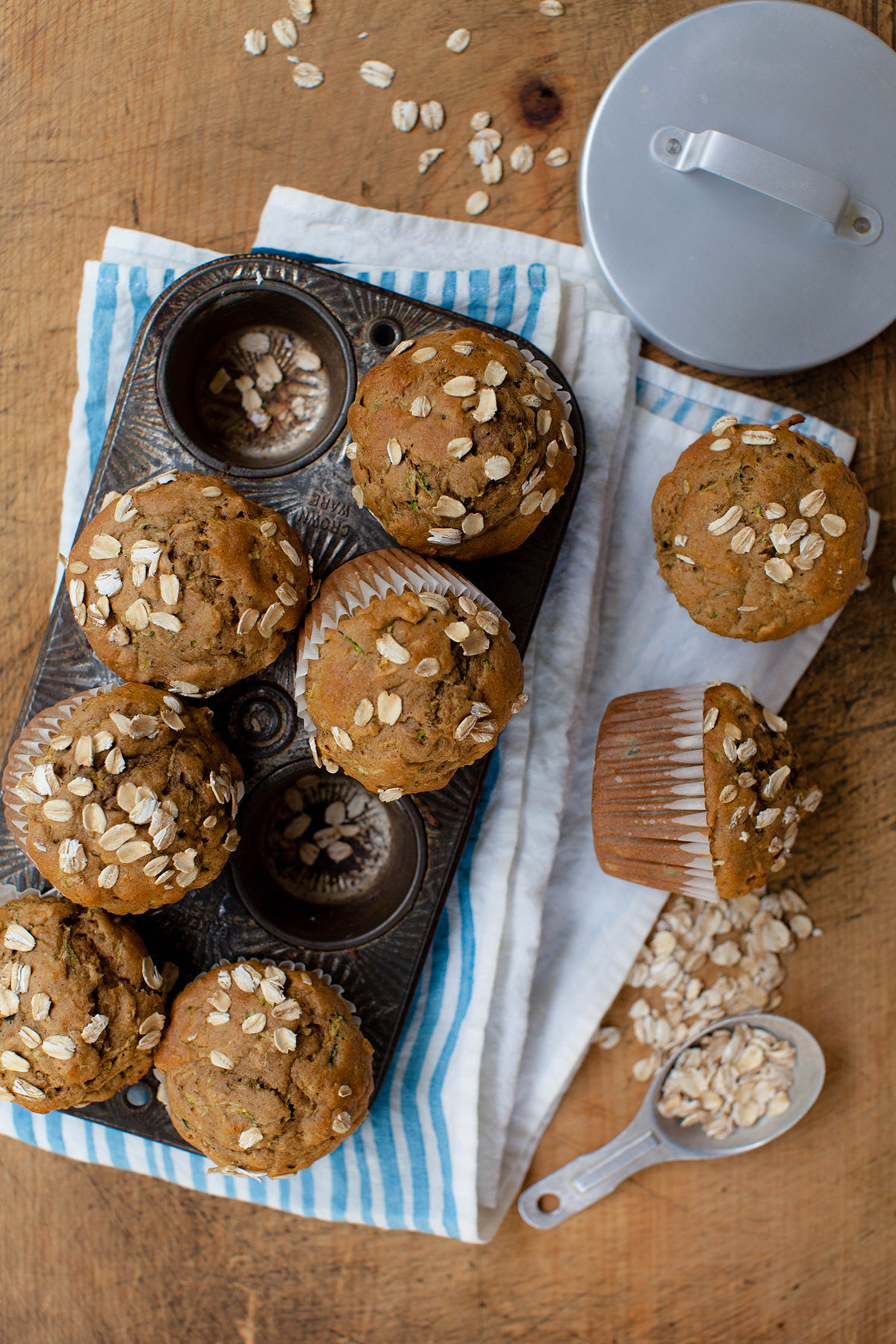 Zucchini Muffins with Oats