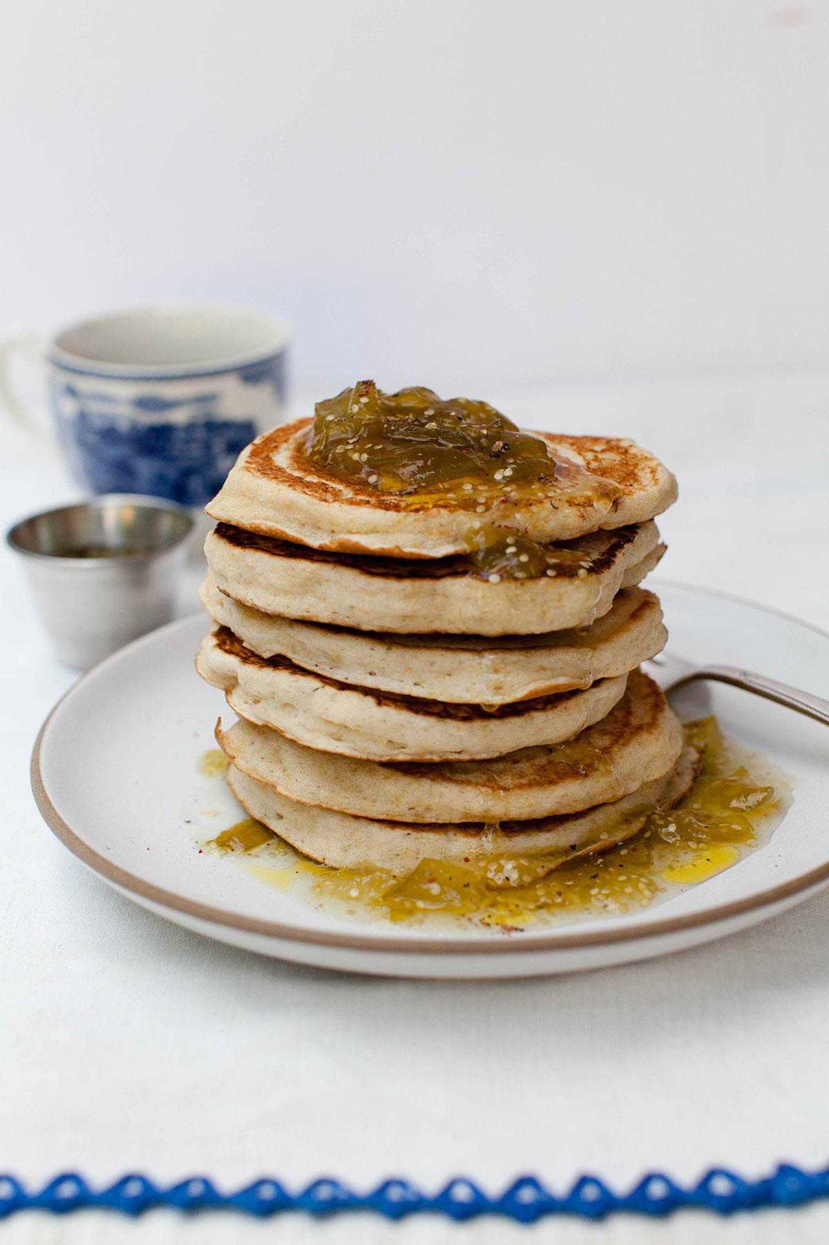 Polenta Pancakes with Green Tomato Marmalade