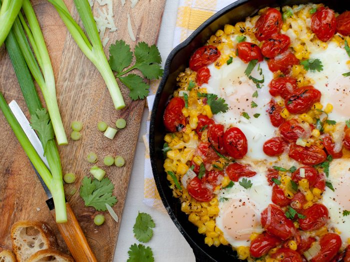 Roasted Corn and Tomato Shakshuka