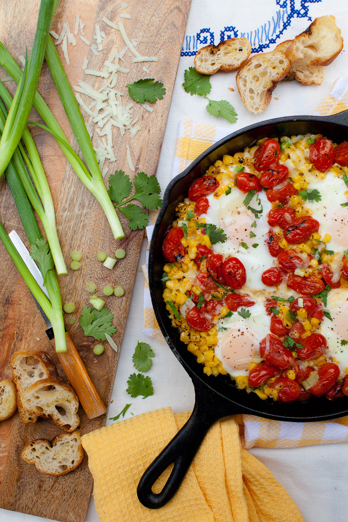 Roasted Corn and Tomato Shakshuka