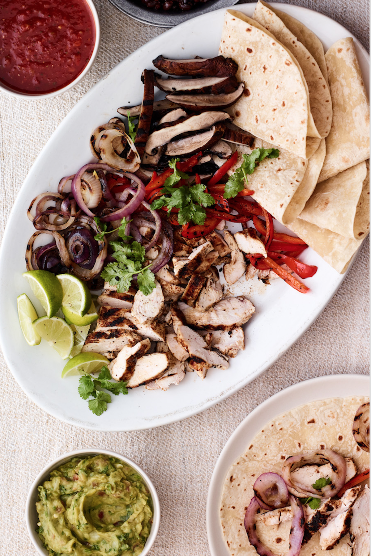 Build Your Own Chicken and Vegetable Fajitas