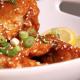 Firey Harissa Wings with Tahini Dipping Sauce