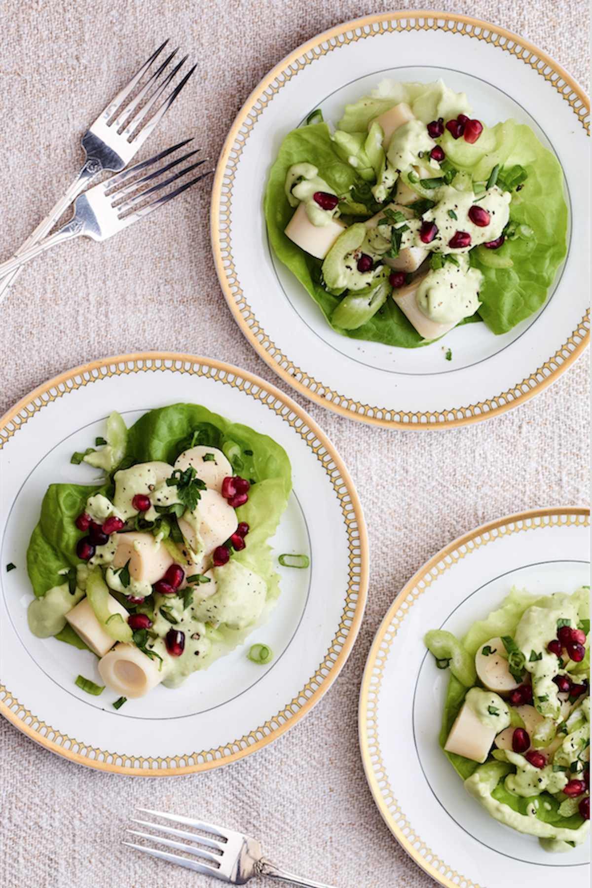 Hearts of Palm Salad with Creamy Avocado Dressing