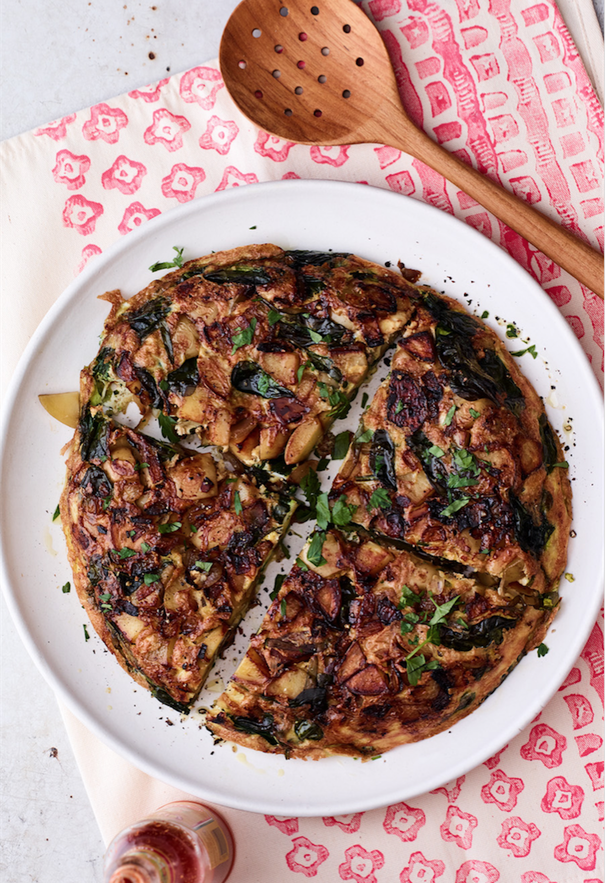 Spinach and Garlic Tortilla Espagnole