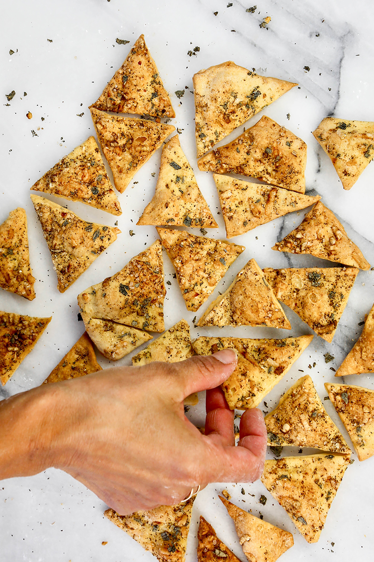Pepper and Sage Olive Oil Crackers