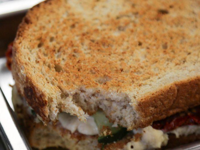 White Bean Hummus Sandwich