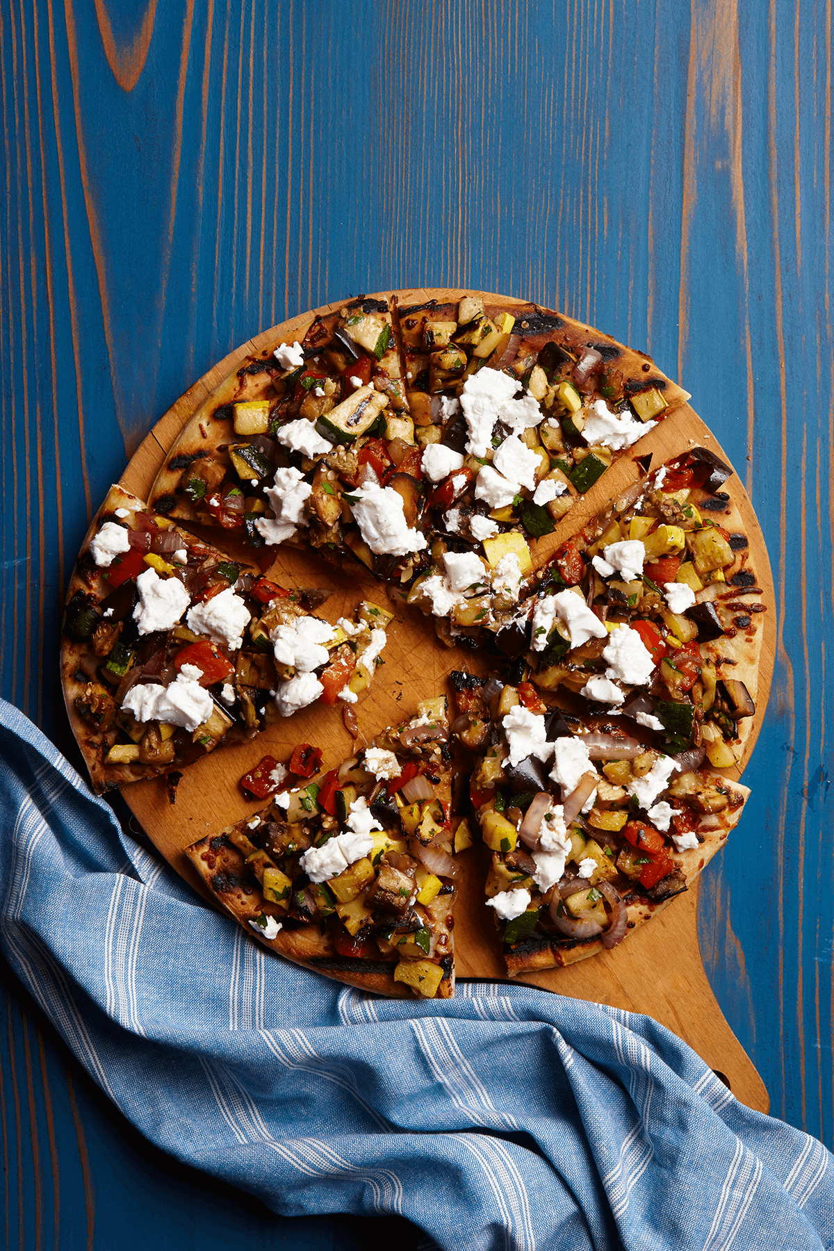 Grilled Summery Ratatouille Pizza