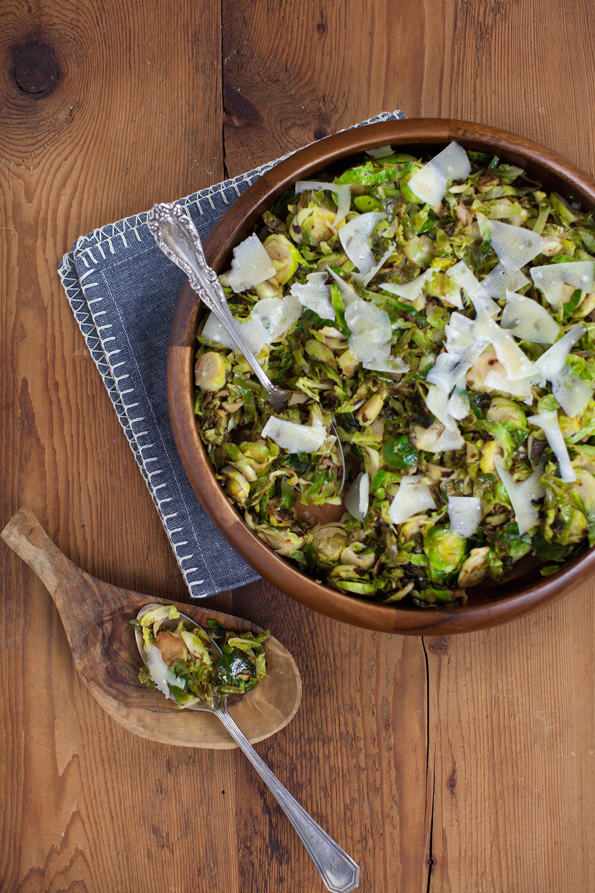 Parmesan Shaved Brussels Sprouts