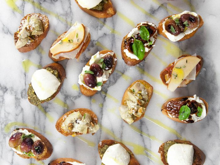 Colorful Crostini
