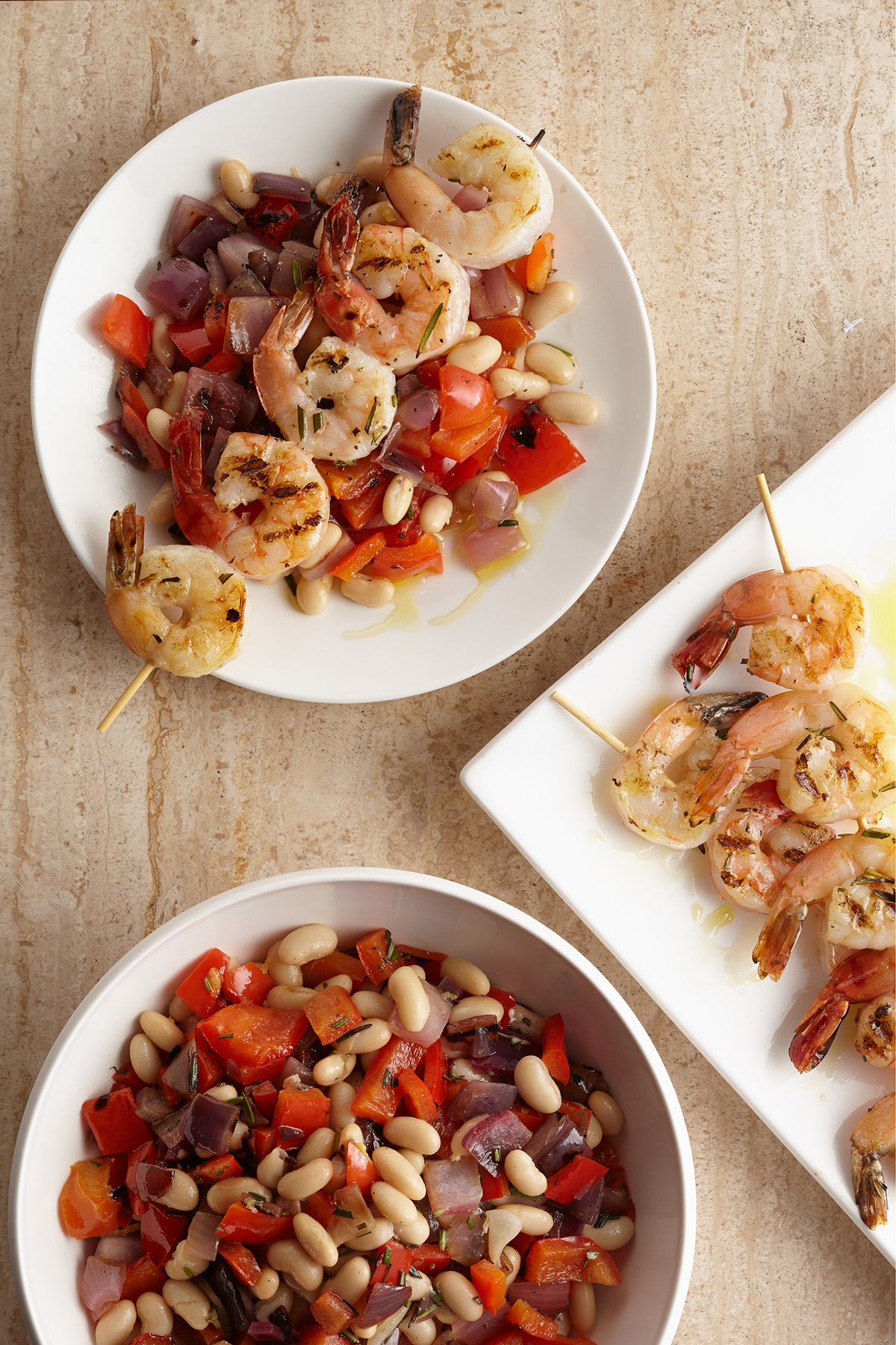 Grilled Rosemary Shrimp Skewers with Grilled Vegetables ...