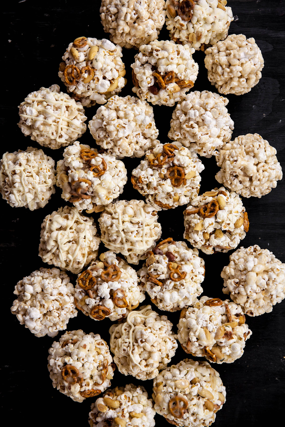Popcorn Balls with Pumpkin Spice and White Chocolate