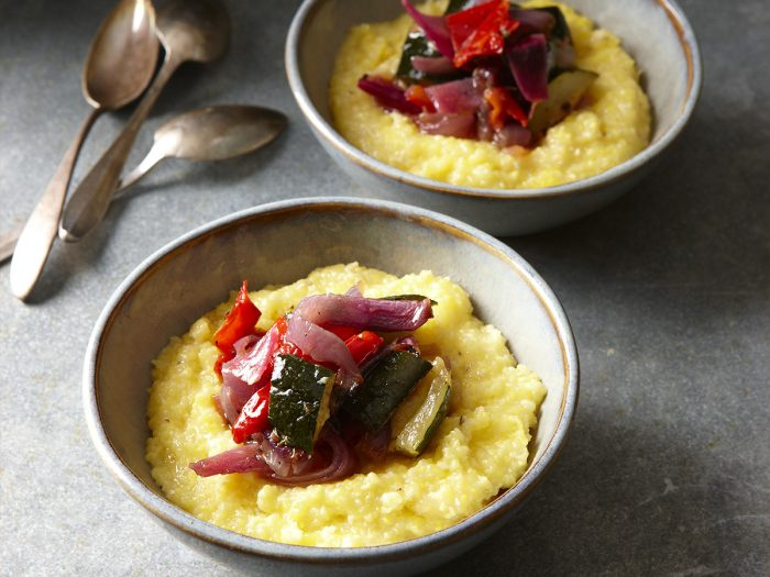 Baked Polenta with Roasted Marinated Vegetables