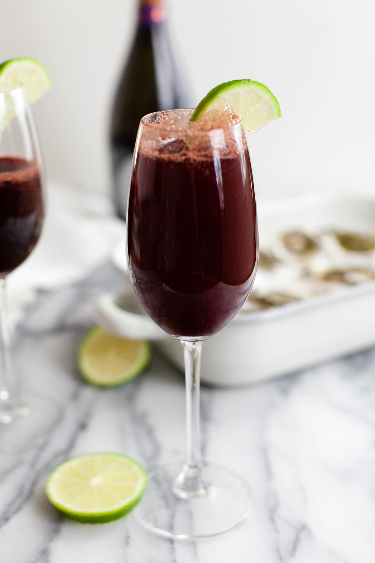 Frozen Sour Cherry Bellini