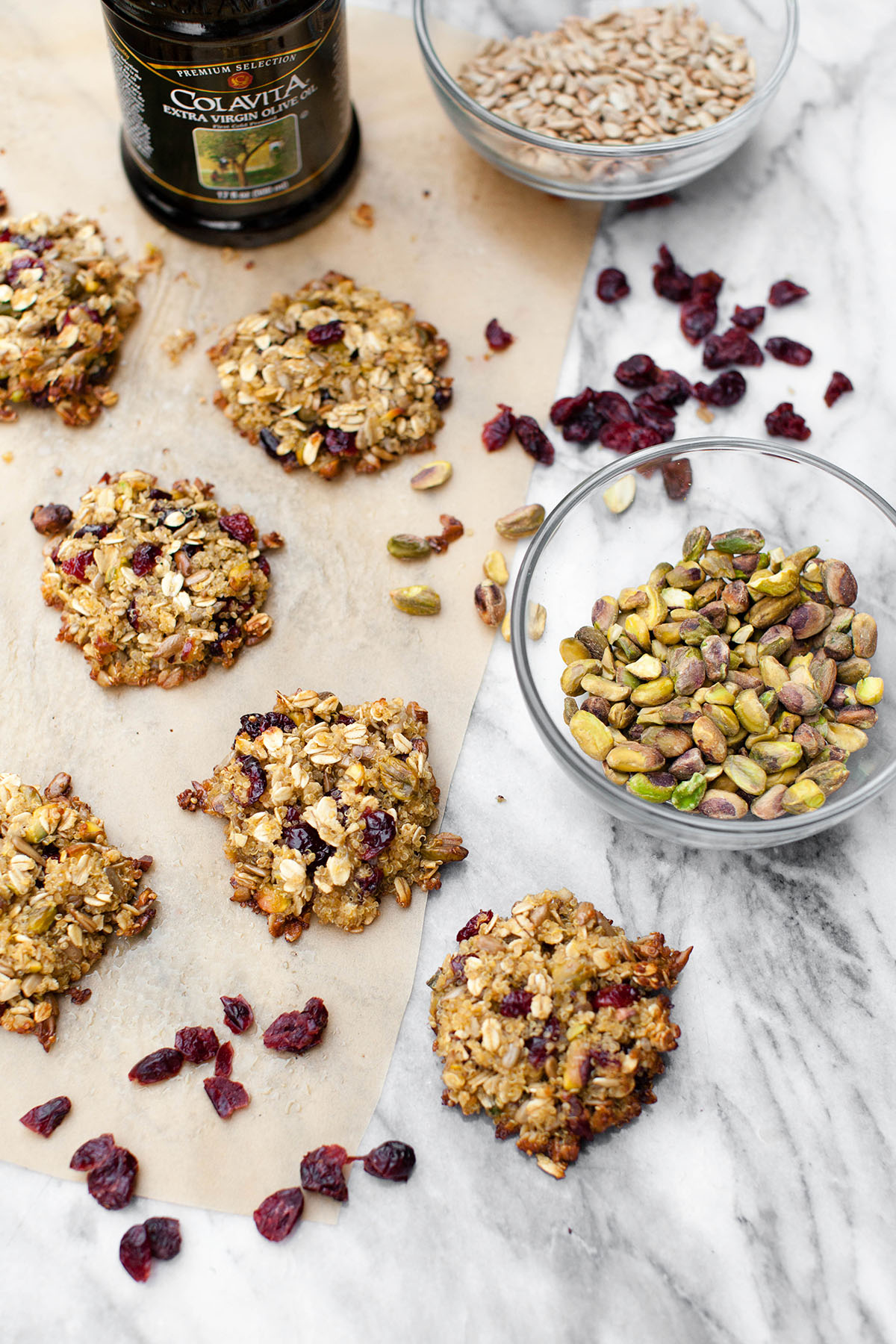 Quinoa Oat Clusters with Fruit and Nuts