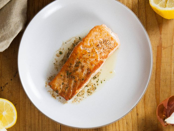 Salmon in Brown Butter and Lemon Sauce
