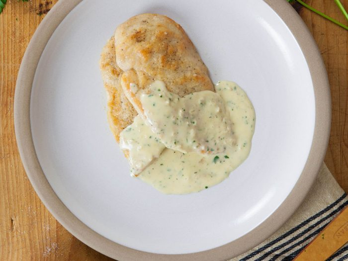Chicken Scallopini with White Wine Cream Sauce