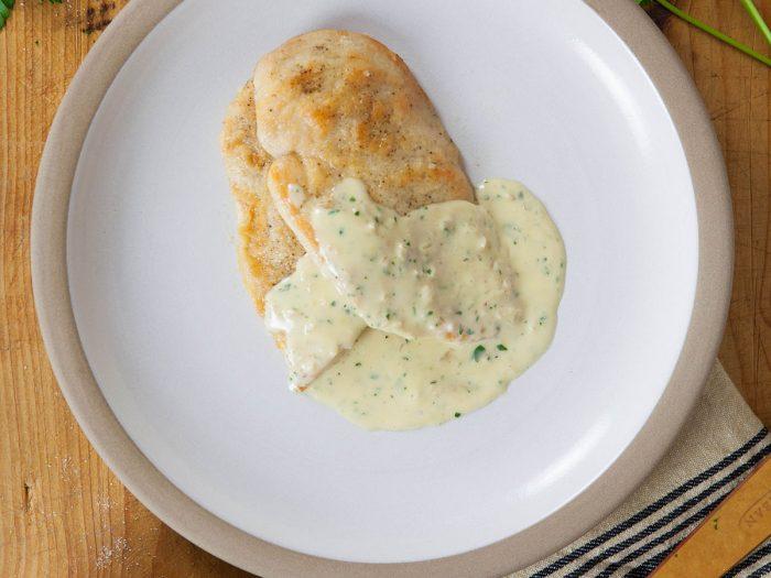Chicken Scallopini with White Wine Cream Sauce