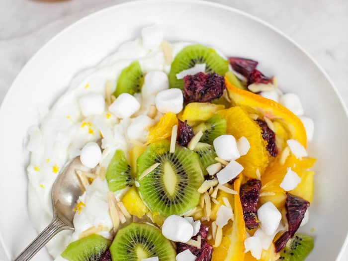 Greek Yogurt Balsamic Ambrosia Salad