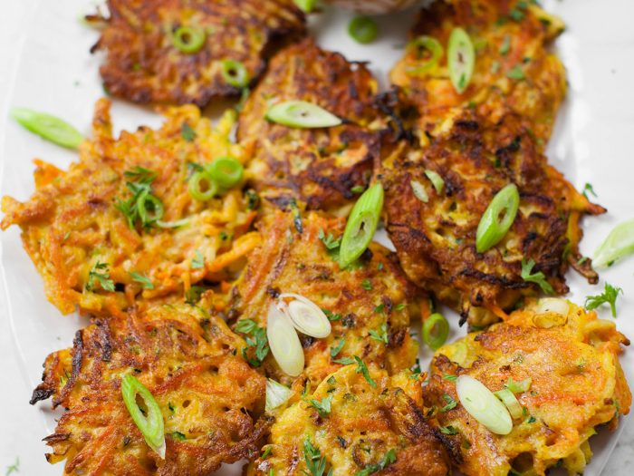 Carrot, Zucchini and Scallion Fritters