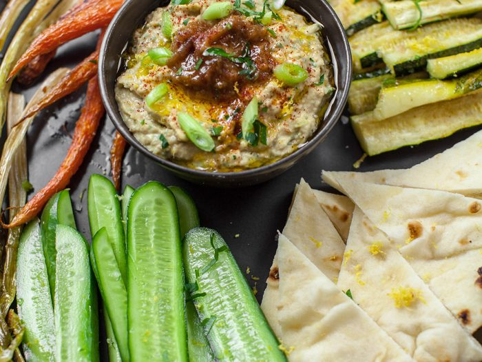 Caramelized Onion and Scallion Hummus