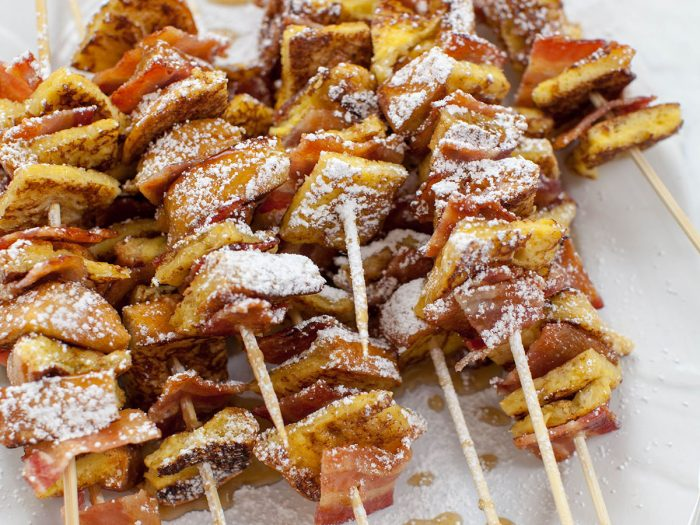 Baked French Toast Skewers with Maple Bacon