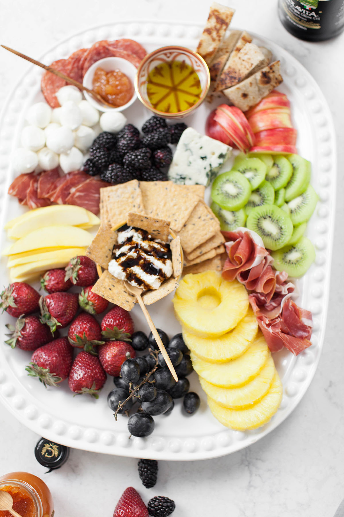 Sweet Fruit and Cheese Platter