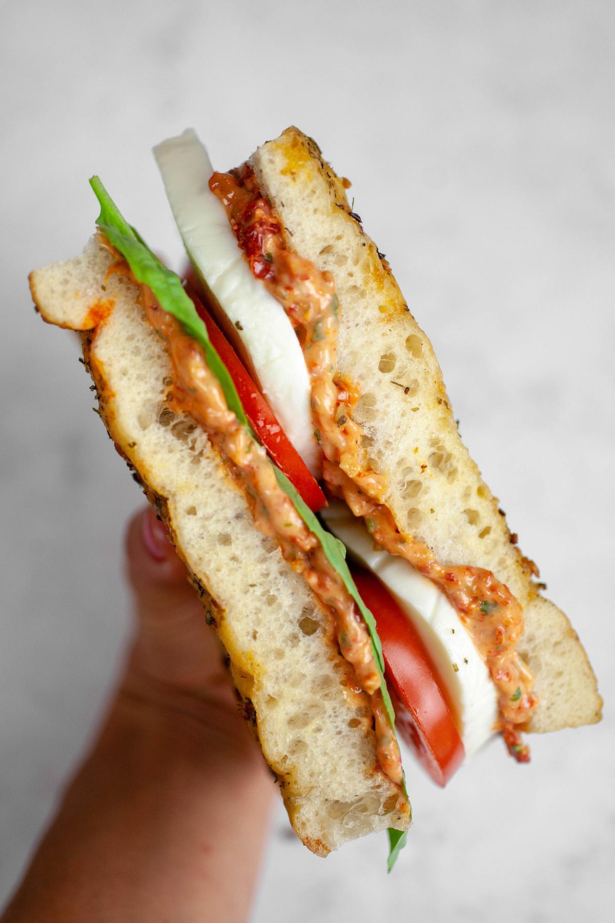 Spicy Caprese Sandwich