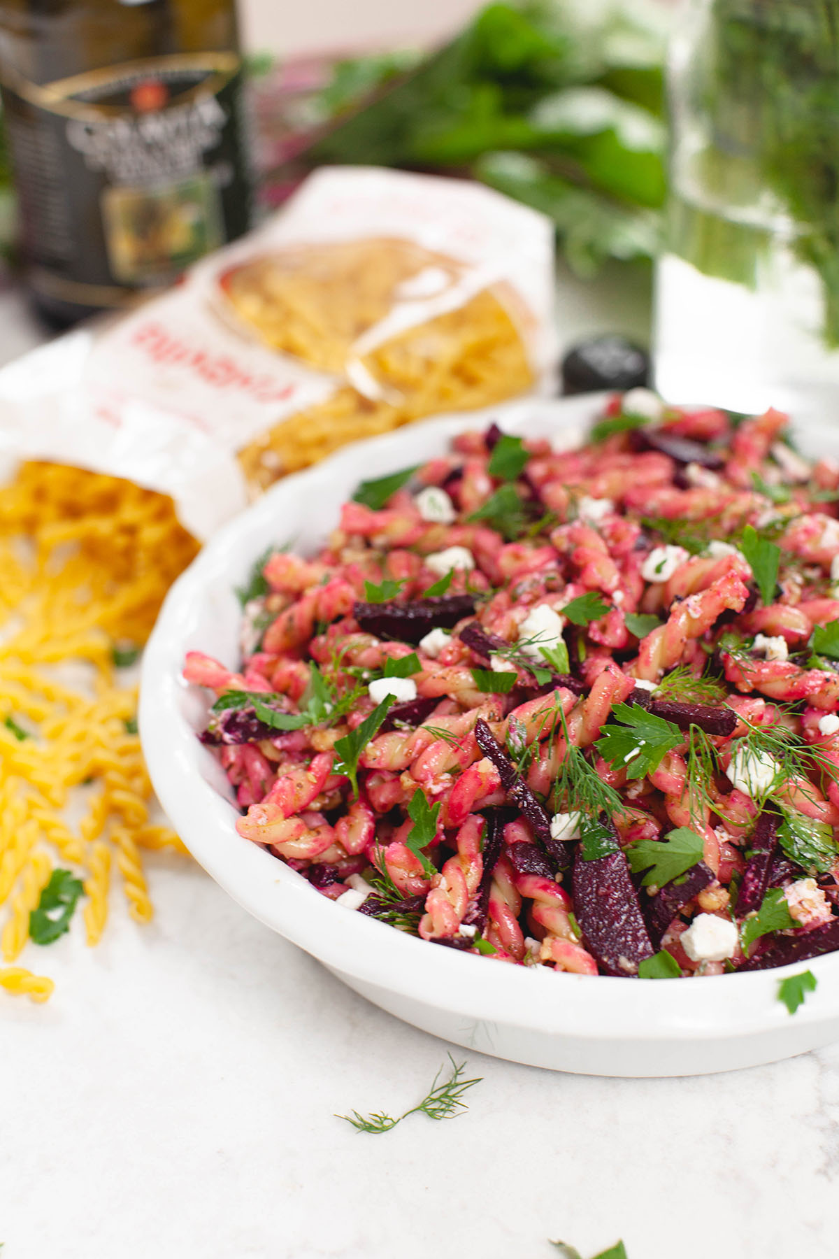 Beet Pasta Salad