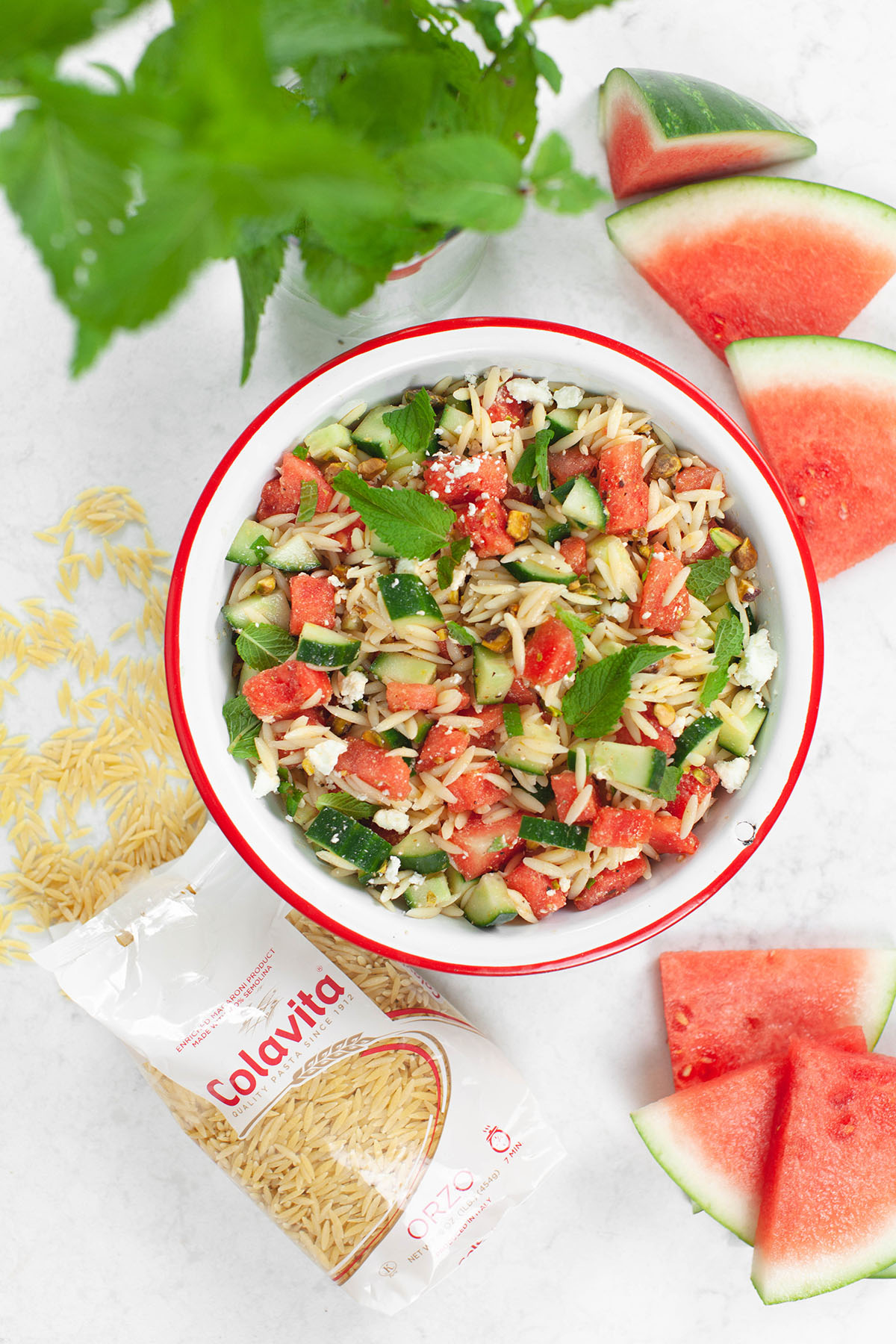 Watermelon Orzo Salad