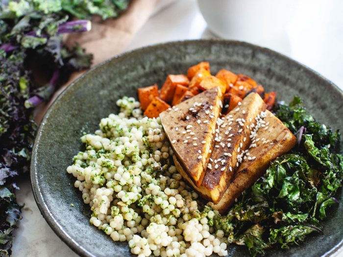 Sweet Potato Tofu Bowl