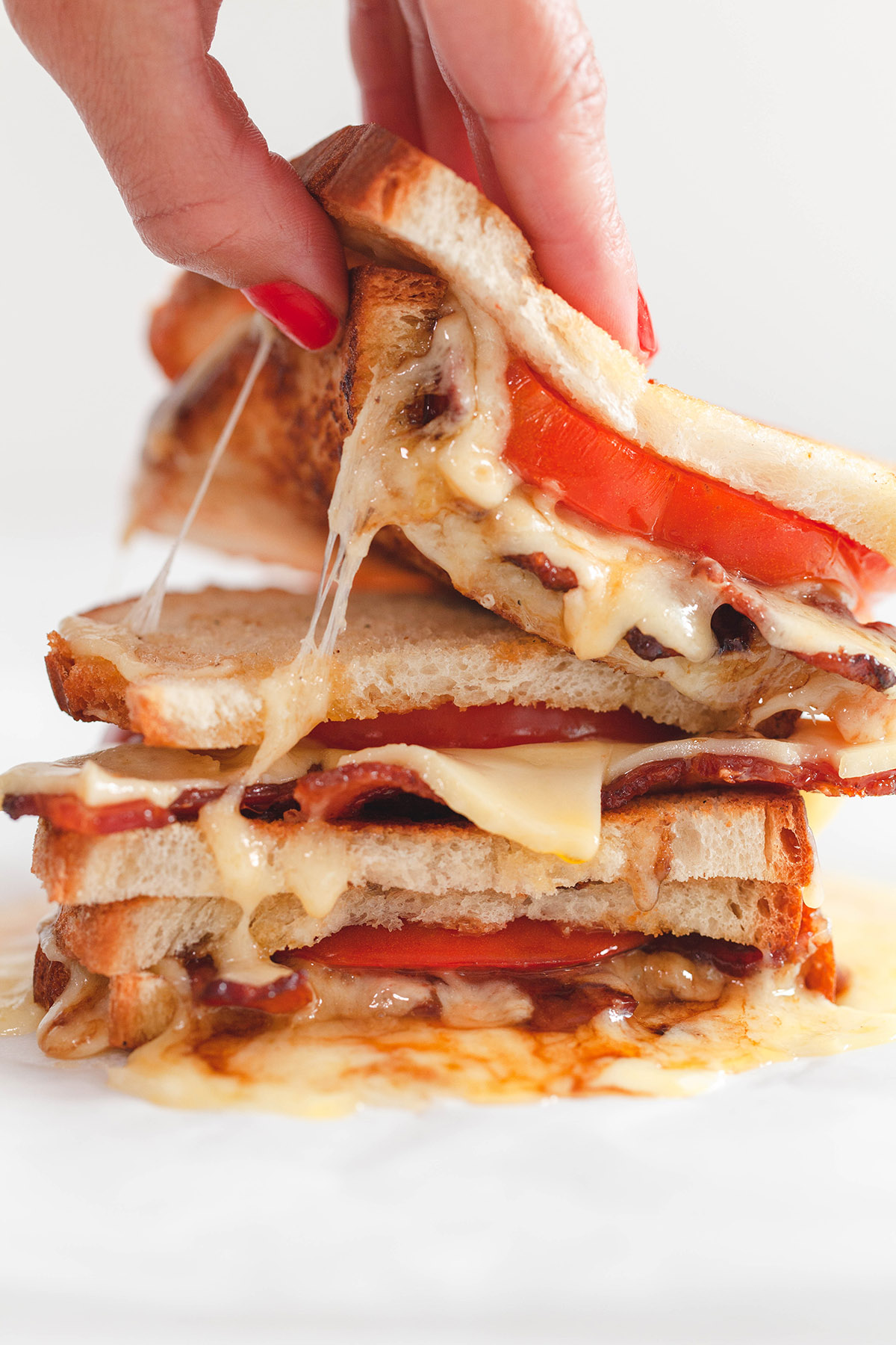 Balsamic Bacon and Tomato Grilled Cheese