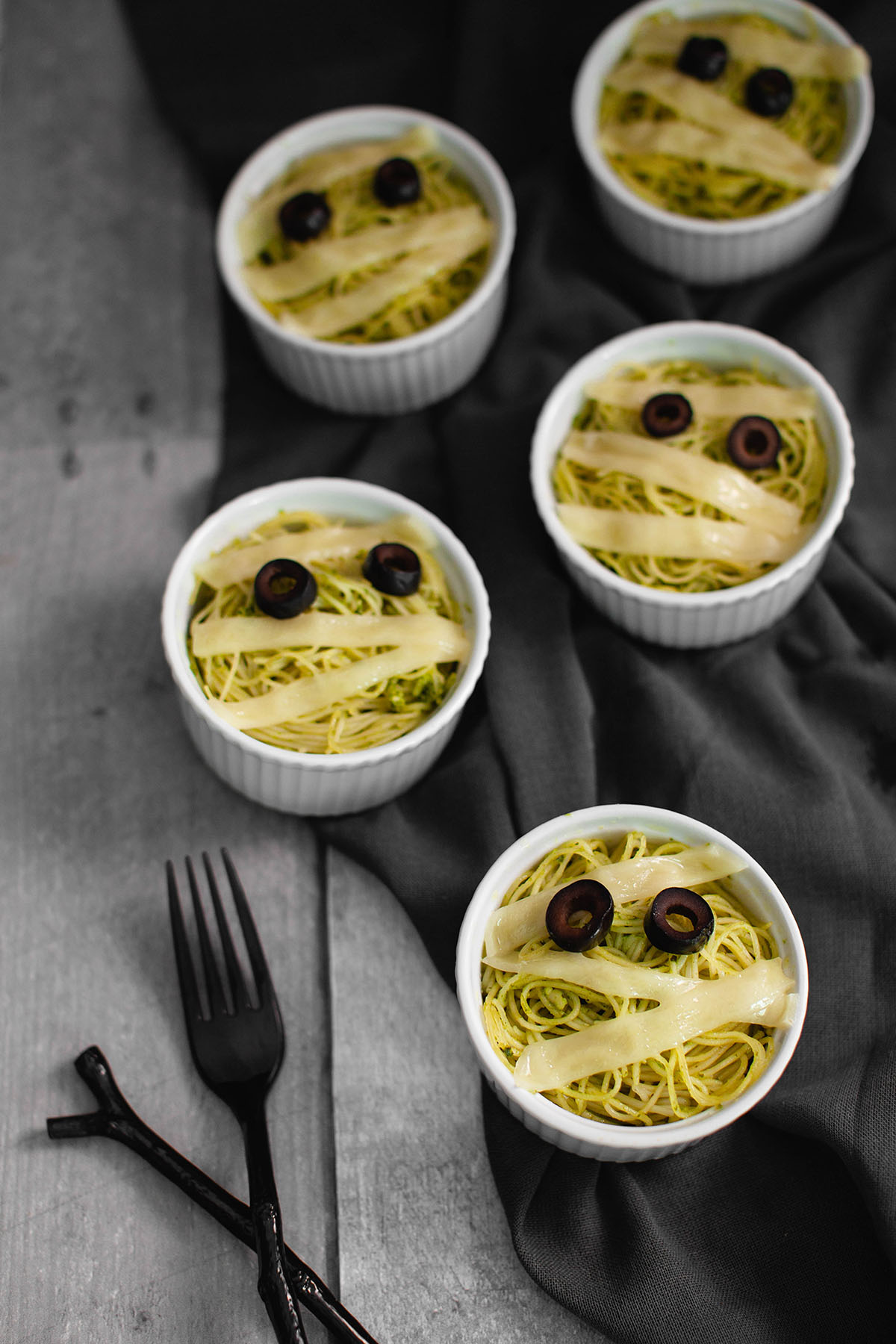 Capellini Pasta Mummies