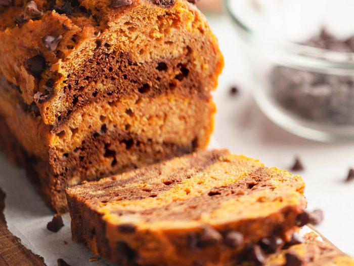 Pumpkin Chocolate Swirl Bread