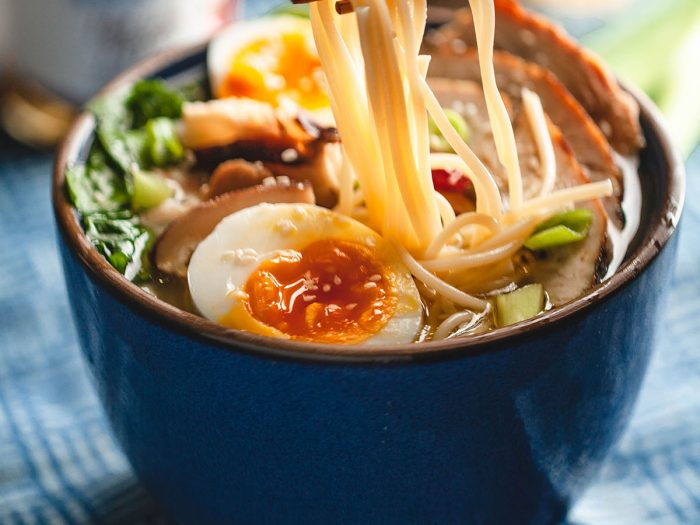 Healthy Turkey Ramen with Spaghetti