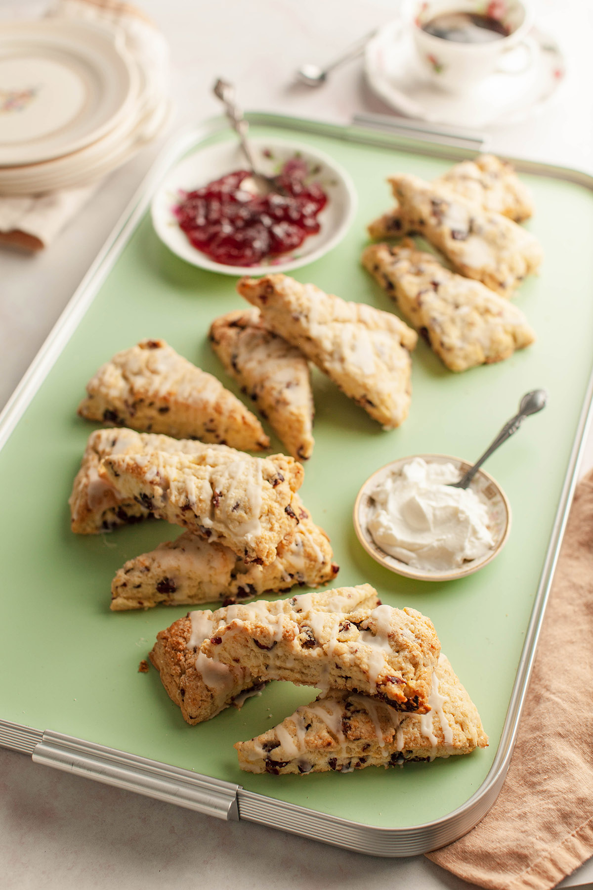 Cranberry, Pistachio and Orange Scones