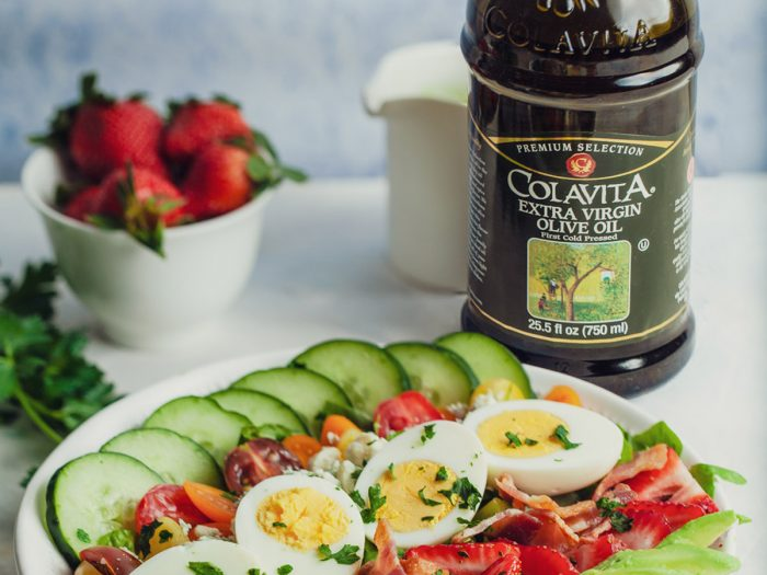 Loaded Breakfast Cobb Salad with Green Goddess Dressing