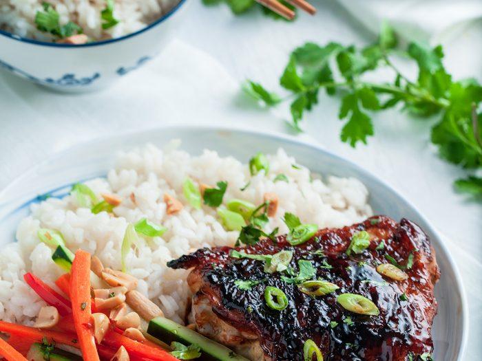 Thai Chicken with Veggies and Rice